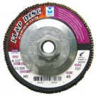 "Mercer Aluminum Oxide Flap Disc 4-1/2"" x 5/8""-11 80grit High Density - T27 (Pack of 10)"