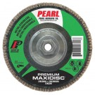 "Pearl Premium 4 1/2"" x 5/8""-11 Zirconia T29 Flap Disc - 60 GRIT (Pack of 10)"