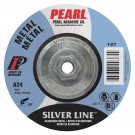 "Pearl SILVERLINE 4"" x 1/4"" x 3/8"" Depressed Center Grinding Wheel (Pack of 25)"