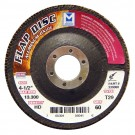 "Mercer Aluminum Oxide Flap Disc 4-1/2"" x 7/8"" 80grit High Density - T27 (Pack of 10)"