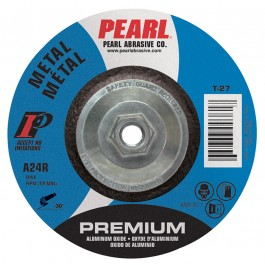 "Pearl Premium 5"" x 1/4"" x 5/8""-11 Depressed Center Grinding Wheel (Pack of 10)"