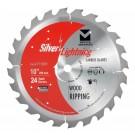 """Silver Lightning Wood Cutting Saw Blades 10"""" x 5/8"""" x 60T - 711007"""