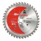"Silver Lightning Wood Cutting Saw Blades 7 1/4"" x 5/8"" DIA x 40T - 717146"