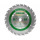 "WOOD CUTTING SAW BLADES 8 1/4"" X 5/8"" Diamond X 24T"