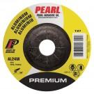 """Pearl Premium 4"""" x 1/4"""" x 5/8"""" Depressed Center Grinding Wheel - Aluminum (Pack of 25)"""